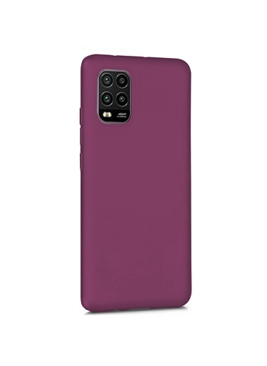 Microsonic Matte Silicone Xiaomi Mi 10 Lite Zoom Kılıf Mor